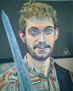 Gaël Acrylique sur toile 80x100 450€